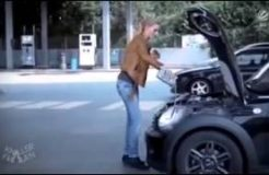 The Blonde and the Engine Oil