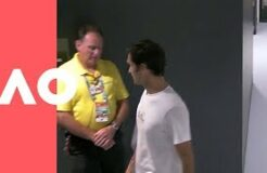 Federer gets stopped by security. Safety first at the AO! | Australian Open 2019