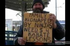 Funny Homeless Signs