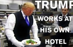 Donald Trump works as an Employee at his own Hotel