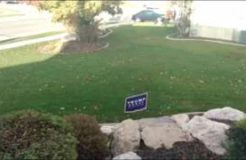 Electric Trap Donald Trump Sign! Hillary Clinton Supporter Gets Shocked Stealing Yard Sign