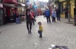 Toddler Mimics Irish dancer