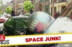 NASA Satellite Falls On Car