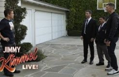 Tom Brady Helps Jimmy Kimmel Vandalize Matt Damon's House