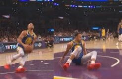 Stephen Curry Embarrasses Himself After Slipping On Dunk Fail Then Airballs! Warriors vs Lakers
