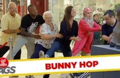 Waiting Line Dances the Bunny Hop!