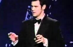 Jim Carrey in his favorite impersonation of Clint Eastwood