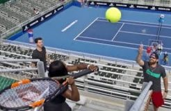 Tennis Trick Shots Serena Williams Dude Perfect