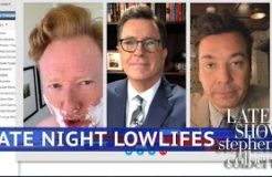 Lowlife Colbert Video Chats With Lost Soul Fallon & Conan O