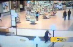 Woman falls into mall fountain while texting