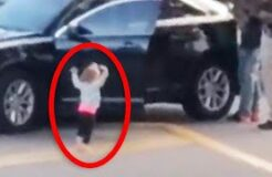 Toddler Puts Arms up and Surrenders as Dad Is Arrested