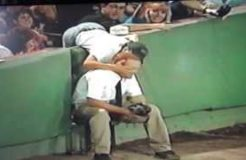Red Sox Ball Boy Gets Kiss For Baseball at Fenway Park!